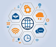Business Communication example using icons.  Royalty Free Stock Photography