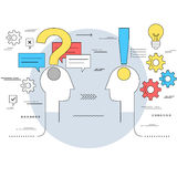 Business communication and expert advice concept Royalty Free Stock Images