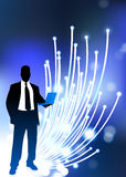 Business communication fiber Optic internet Stock Photos
