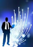Business communication fiber Optic internet Stock Photos