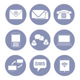 Business communication icon set, collection for design presentation in  Stock Photo
