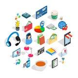 Business communication icons set, isometric style. Business communication icons set. Isometric set of 25 business communication vector icons for web isolated on Royalty Free Stock Photography