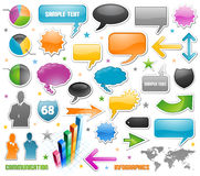 Business communication network icons. Business financial communication network icons Stock Image