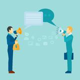 Business Communication Poster Royalty Free Stock Photos