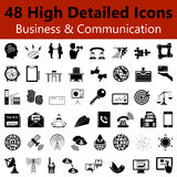 Business and Communication  Smooth Icons Stock Photo
