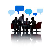 Business Communication with Speech Bubbles Royalty Free Stock Images