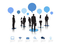 Business Communication Vector. The vector of Business team social networking with speech bubbles vector illustration