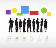 Business Communication Vector. Business team with Speech Bubbles royalty free illustration