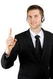 Business communications operator Royalty Free Stock Photography