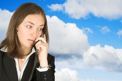 Business communications - sky Stock Image