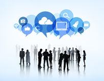 Business Communications with Speech Bubble Stock Photography