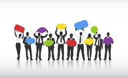 Business Communications with Speech Bubbles Royalty Free Stock Images
