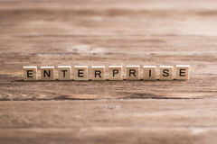 Business company corporation enterprise. Business company conceptual word collected of elements of wooden elements with the letters royalty free stock photography