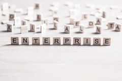 Business company corporation enterprise. Company conceptual word collected of elements of wooden elements with the letters royalty free stock images