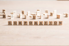 Business company corporation enterprise. Business company conceptual word collected of elements of wooden elements with the letters royalty free stock image