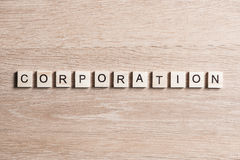 Business company corporation enterprise. Business company conceptual word collected with wooden elements with the letters royalty free stock images