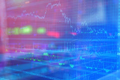 Business company financial balance, stock Quotes. At real time at the stock exchange Royalty Free Stock Photo