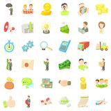 Business company icons set, cartoon style. Business company icons set. Cartoon style of 36 business company vector icons for web isolated on white background Royalty Free Stock Images