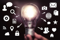 Business company idea icon network connection Royalty Free Stock Image