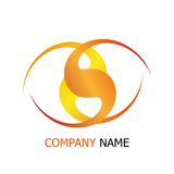 Business company intersect logo template. For any business use Royalty Free Stock Photography