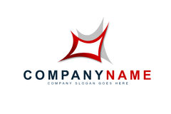 Business Company Logo. An illustration of a business company logo representing an abstract red shape Stock Photography