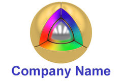 Business, Company logo design, 3D rendering Royalty Free Stock Images