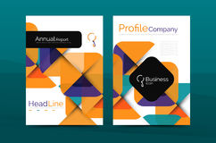 Business company profile brochure template Stock Photography