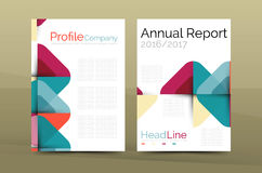Business company profile brochure template Royalty Free Stock Photos