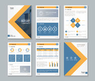 Business company profile report and brochure layout template. Page report cover brochure, flyer , Layout design template, and company profile layout template Stock Photography