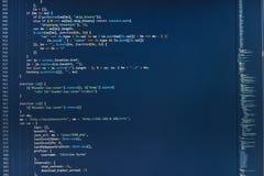 IT business company. Programmer developer screen. Software source code. HTML5 in editor for website development stock illustration