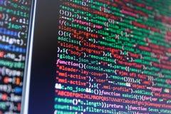 IT Business Company Programmeur Developer Screen Code source de logiciel Illustration Libre de Droits