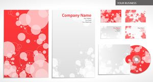 Business company style with circles Stock Photography