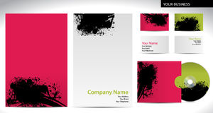 Business company style with stains Stock Photos