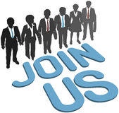Business company team Join Us Stock Images