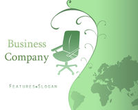 Business Company Template Background with Logo - V Stock Image
