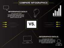 Business compare infographics Royalty Free Stock Photos