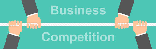 Business competition banner concept Royalty Free Stock Photo