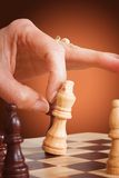 Business competition - chess Stock Images