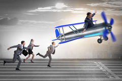 The business competition concept with vintage plane Royalty Free Stock Photo