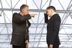 Business competition, conflict concept Royalty Free Stock Photos