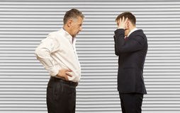 Business competition, conflict concept Royalty Free Stock Images