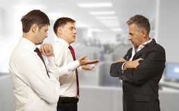 Business competition, conflict concept Stock Photos