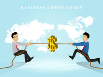 Business competition. Flat 3d isometric design of business competition Stock Photo