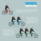 Business competition. Managers on bike Stock Photo