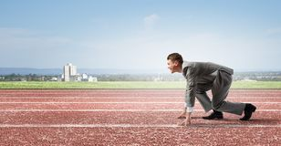 Business competition Stock Images