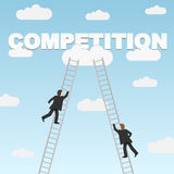 Business competition between two businessmen Stock Photos