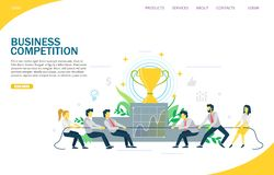 Free Business Competition Vector Website Landing Page Design Template Royalty Free Stock Photos - 138948288