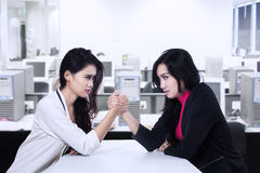Business competition at workplace Stock Images