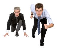 Business competition - young vs old Royalty Free Stock Photos