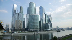 Business complex of moscow city stock video